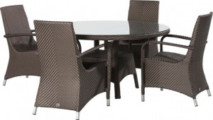 4 Seasons Outdoor Refton dining set Gold