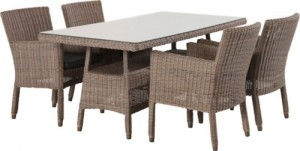 4 Seasons Outdoor Wales dining chair + Devon tafel Leaf