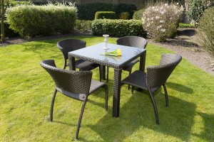 4 Seasons Outdoor Watford dining chair + refton tafel Gold