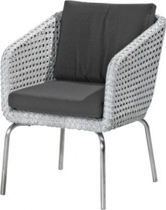 4 Seasons outdoor Luton dining chair pearl
