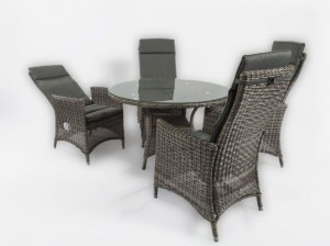 4 Seasons Outdoor taste Bolzano dining set grey 1