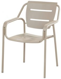 4 Seasons Outdoor Eco stacking dining chair taupe