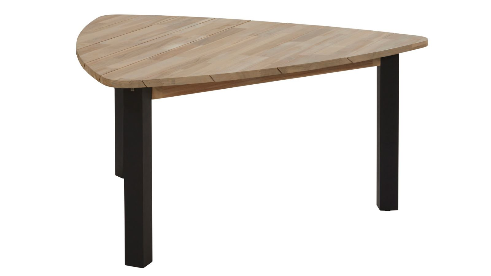 4 seasons outdoor coruna dining set met derby triangle tafel teak sale latour. Black Bedroom Furniture Sets. Home Design Ideas