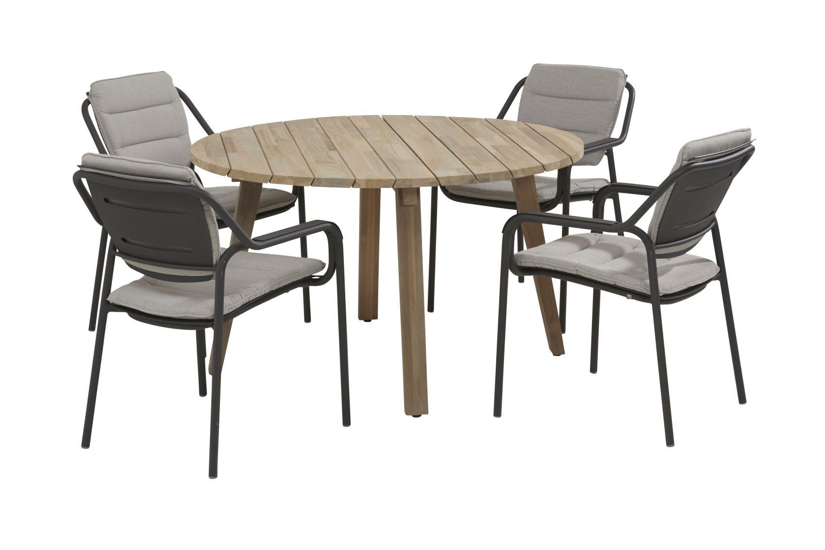 4 seasons outdoor eco dining set derby tafel rond sale latour. Black Bedroom Furniture Sets. Home Design Ideas