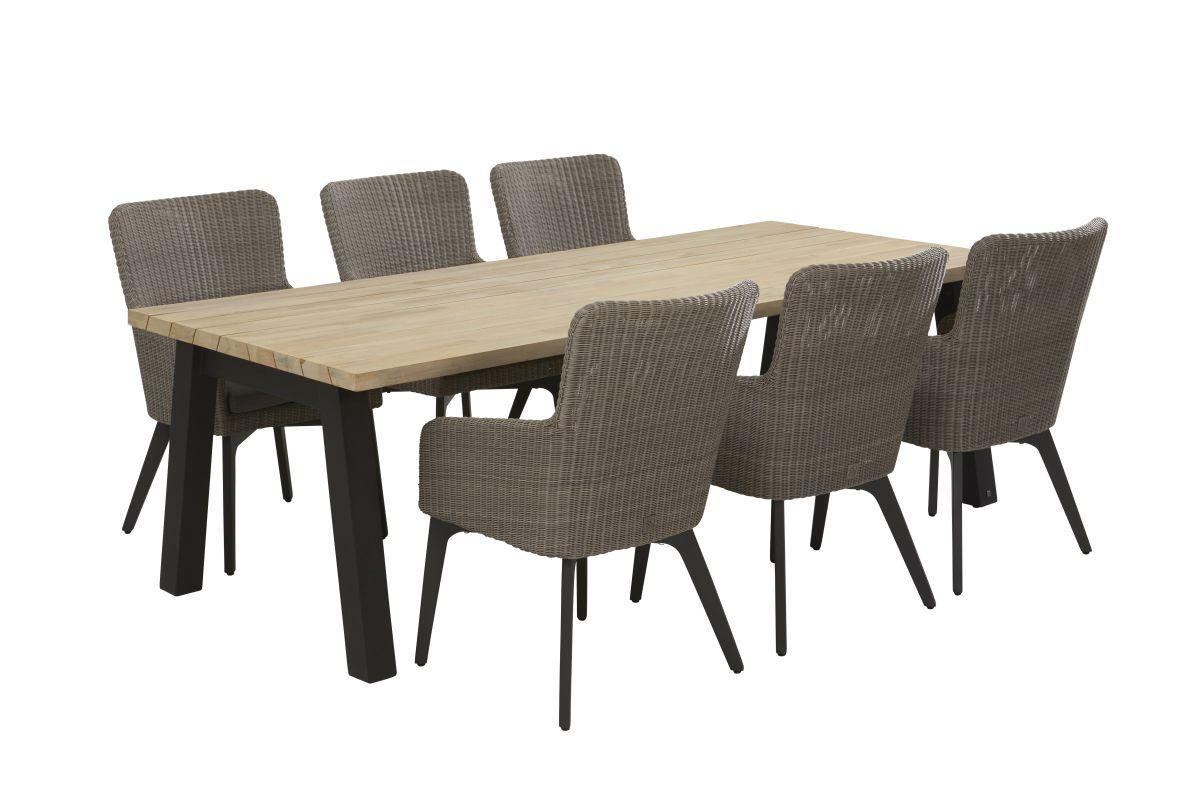 4 seasons outdoor luxor dining chair vesper tafel sale latour. Black Bedroom Furniture Sets. Home Design Ideas