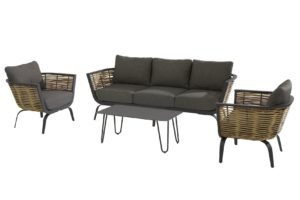 4 Seasons Outdoor Antibes loungeset met cool tafel