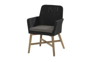 4 Seasons Outdoor Lisboa dining chair antraciet met teak poten