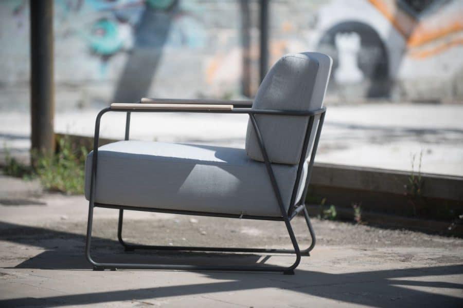 4 Seasons Outdoor coast loungestoel met teak armleuning