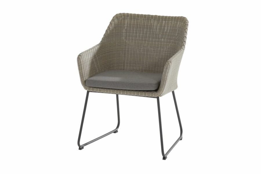 4 Seasons Outdoor Avila eetstoel polyloom pebble tuinstoel dining chair