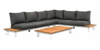 Suns Denver lounge Set 6-Sitzer mit Loungetisch weiss