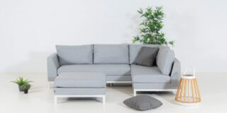 Flow. Square Chaise Sofa lead chiné links