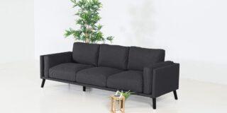 Flow. Doozy 3-Sitzer-Sofa Sooty