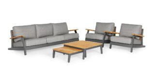 Suns Siena 5-teiliges Sofa-Set light antraciet