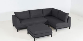 Flow. Square Chaise Sofa sooty links