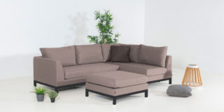 Flow. Square Chaise Sofa taupe chiné links