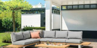 Suns Boston Lounge set 6-Sitzer mit Loungetisch