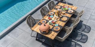 4 Seasons Outdoor Ramblas Esstischgarnitur mit Basso Tisch 240 cm