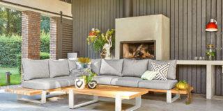 Suns Nardo Loungeset 6-sitzer soft grey - weißer Rahmen