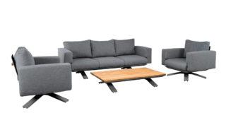 Suns Stockholm Sofa-Set blended antracite